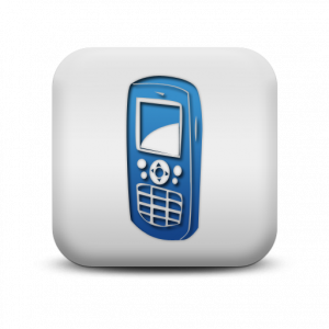 Blue Mobile Phone Icon Web Icons Png