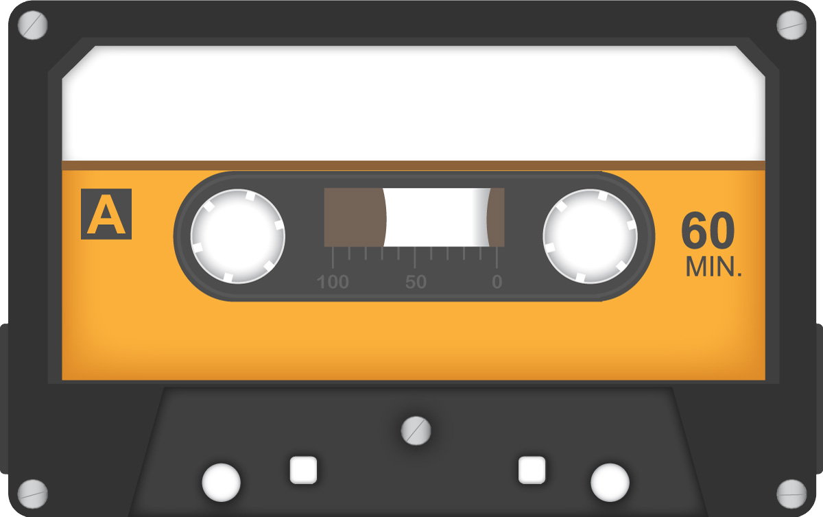 Audio Cassette PNG Image | Web Icons PNG
