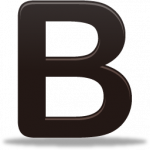 Download and use B PNG Image