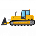 Best free Bulldozer PNG Image Without Background