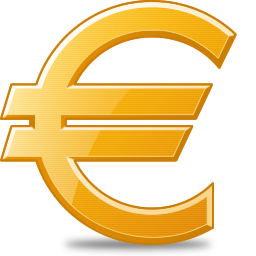 Now you can download Euro Icon PNG