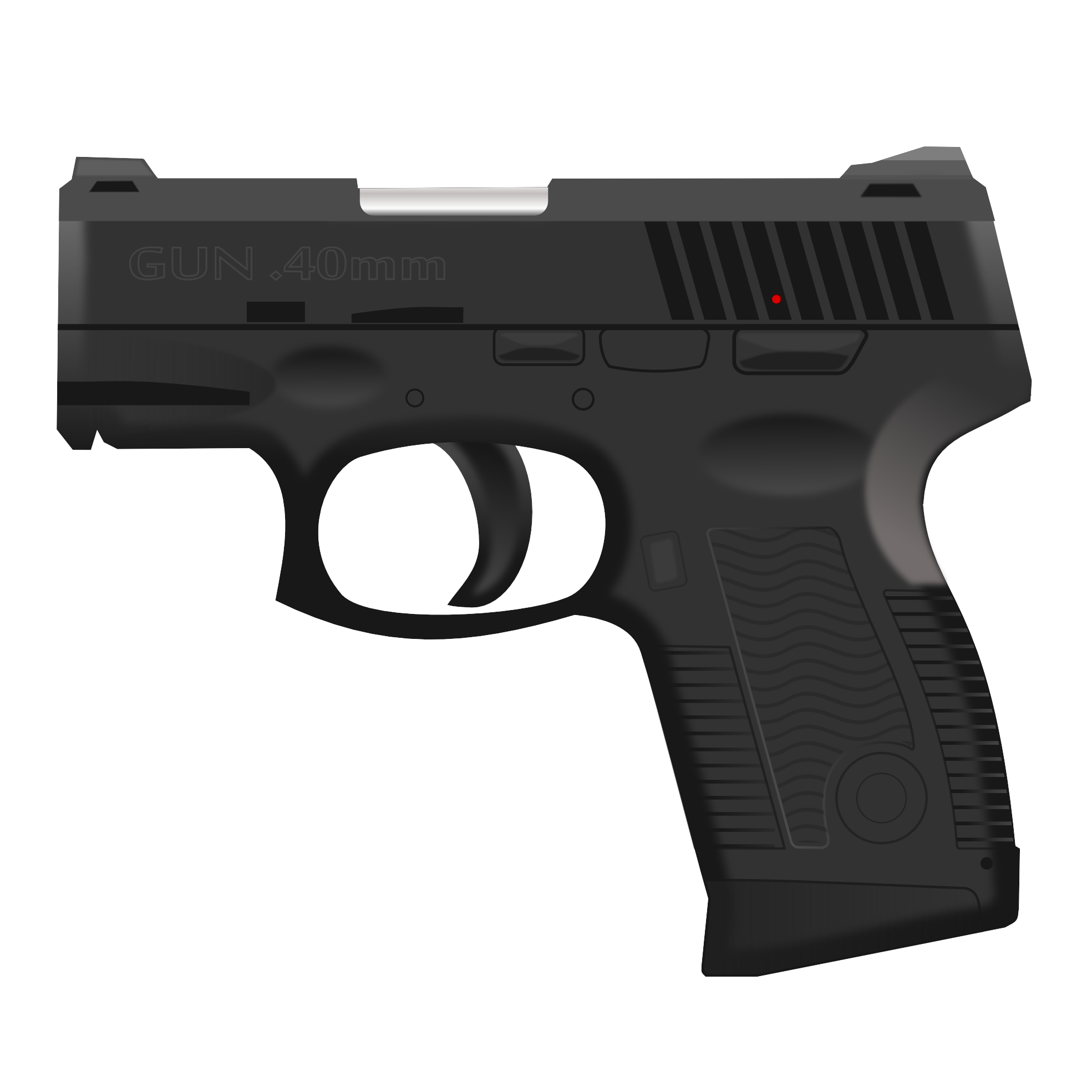 Download and use Hand Gun Transparent PNG File