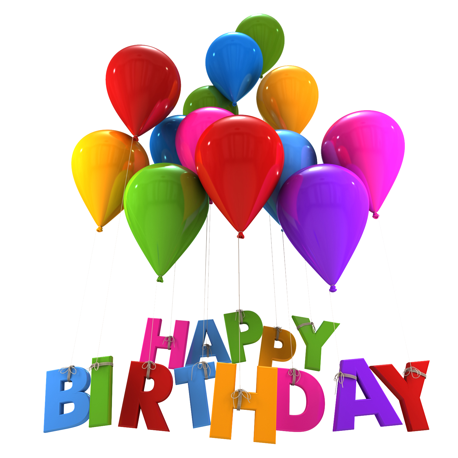 Now you can download Happy Birthday Transparent PNG Image