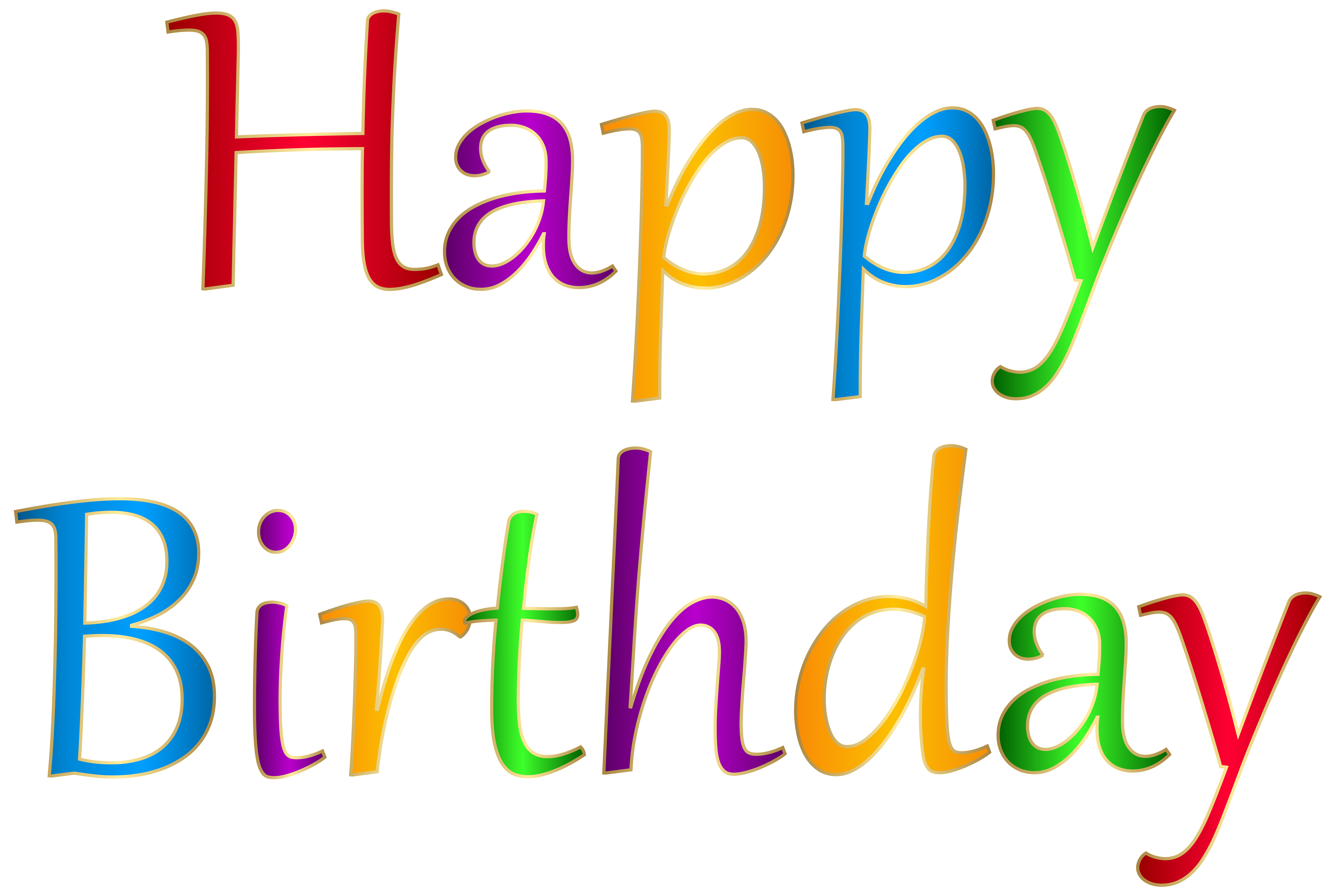 Now you can download Happy Birthday High Quality PNG