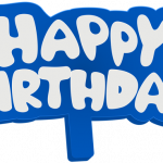 Download and use Happy Birthday Transparent PNG File
