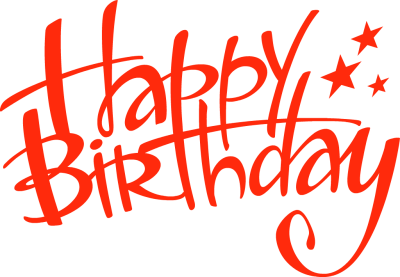 Free download of Happy Birthday Transparent PNG File