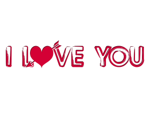 Now you can download I Love You PNG Image Without Background