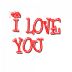 Download and use I Love You PNG Image