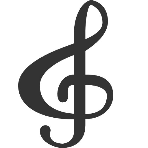 treble clef no background