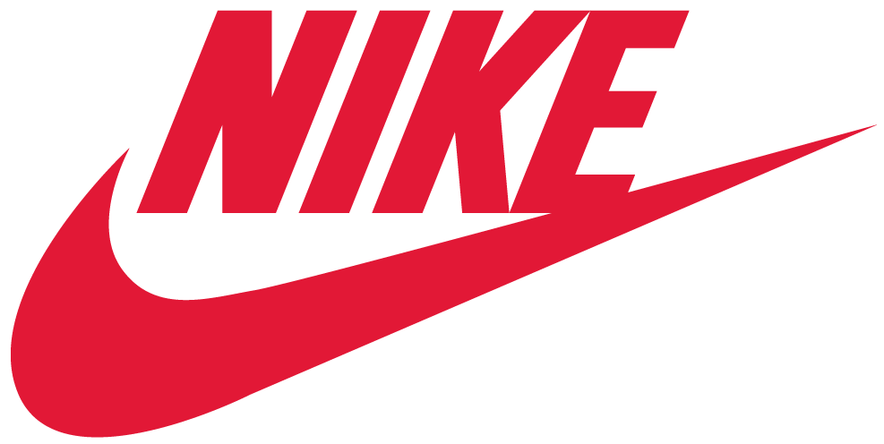 Red and blue nike logo