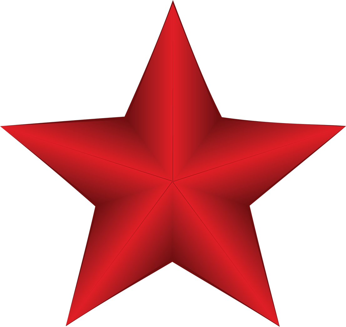 Red Star Transparent PNG Image | Web Icons PNG
